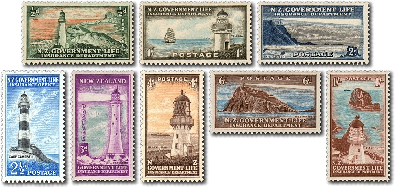 1947 Government Life Insurance Lighthouses