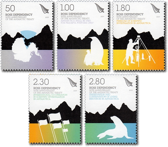 2009 Ross Dependency - 50th Anniversary of the Antarctic Treaty
